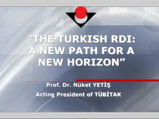 """THE TURKISH RDI: A NEW PATH FOR A NEW HORIZON"""