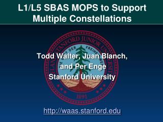 L1/L5 SBAS MOPS to Support Multiple Constellations