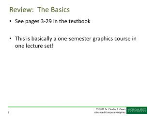 Review:  The Basics