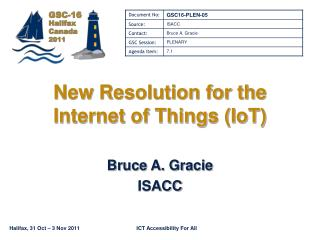New Resolution for the Internet of Things (IoT)