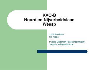 KVO-B  Noord en Nijverheidslaan Weesp