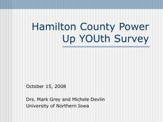 Hamilton County Power Up YOUth Survey