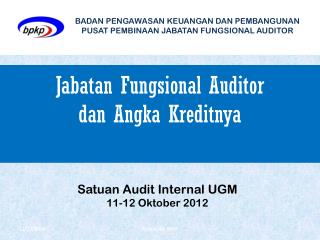Jabatan Fungsional Auditor dan Angka Kreditnya