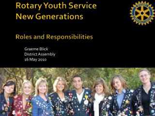 Rotary Youth Service New Generations Roles and Responsibilities