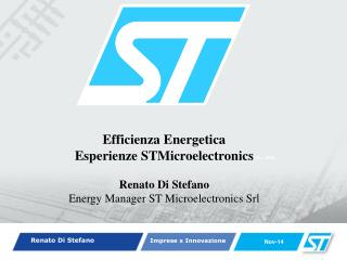Efficienza Energetica  Esperienze STMicroelectronics