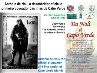 Ant nio de Noli, o descobridor oficial e primeiro povoador das ilhas de Cabo Verde