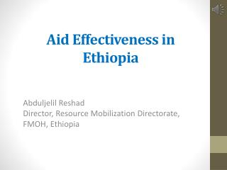 Aid Effectiveness in Ethiopia