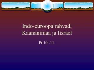 Indo-euroopa rahvad, Kaananimaa ja Iisrael