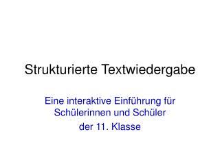 Strukturierte Textwiedergabe