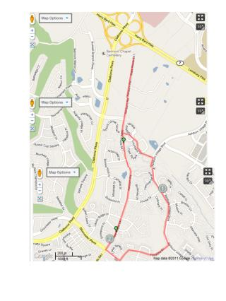 Route:   10K Race Telos (in�front of�Community Church)�to Ashburn Road (heading south)