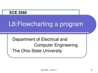 L8:Flowcharting a program