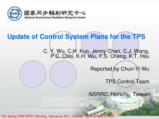 Update of Control System Plans for the TPS
