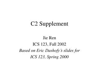 C2 Supplement