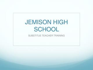 JEMISON HIGH SCHOOL