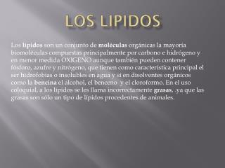LOS LIPIDOS
