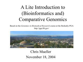 A Lite Introduction to (Bioinformatics and) Comparative Genomics