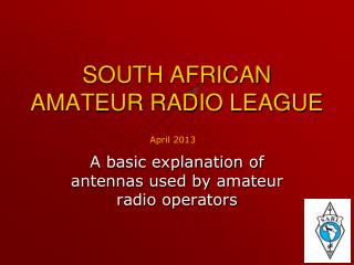 SOUTH AFRICAN AMATEUR RADIO LEAGUE