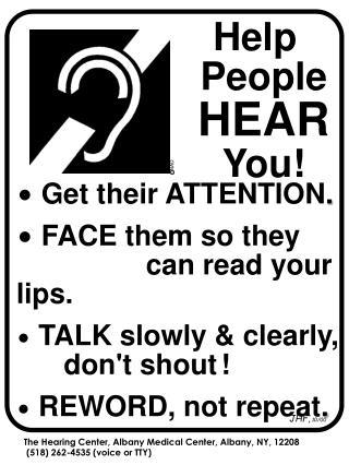 Help People  HEAR  You!