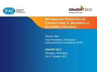 Información Financiera de Calidad para el Desarrollo Económico Regional
