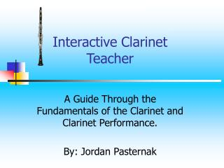Interactive Clarinet Teacher