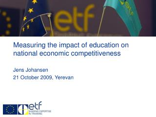 Measuring the impact of education on  national economic competitiveness