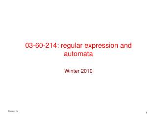 03-60-214: regular expression and automata
