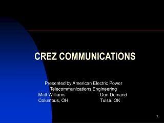 CREZ COMMUNICATIONS