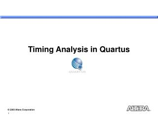 Timing Analysis in Quartus