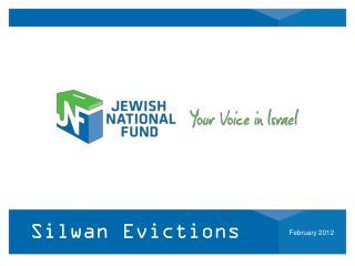 Silwan Evictions