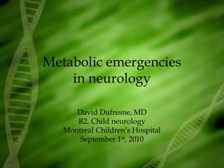 Metabolic emergencies in neurology