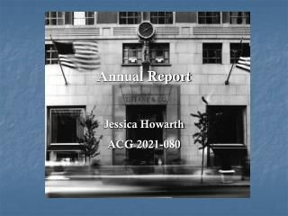 Annual Report Jessica Howarth ACG 2021-080