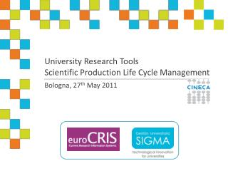 University Research Tools  Scientific  Production Life Cycle Management