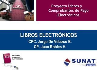 Proyecto Libros y Comprobantes de Pago Electr nicos