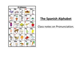 The Spanish Alphabet  Class notes on Pronunciation.