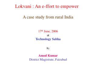 Lokvani : An e-ffort to empower