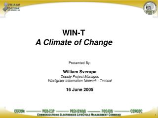 WIN-T  A Climate of Change