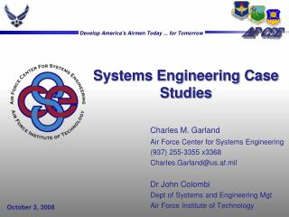 Systems Engineering Case Studies