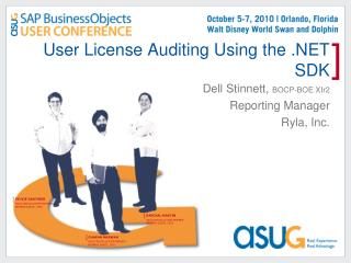 User License Auditing Using the  SDK