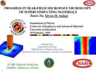PROGRESS IN NEAR-FIELD MICROWAVE MICROSCOPY  OF SUPERCONDUCTING MATERIALS
