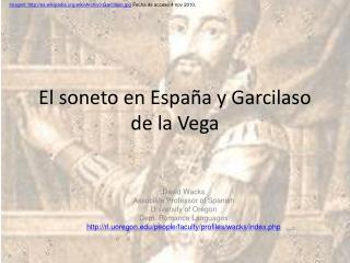 El soneto en España y Garcilaso de la Vega