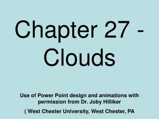 Chapter 27 - Clouds
