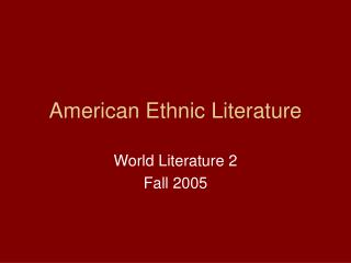 ethnic literature This article examines the boat as a coherent collection of stories that self-consciously takes up, in love and honor, some central debates in asian american literary studies: questions of cultural authenticity, authorial ownership, responsible representation of trauma, the selling out of the.
