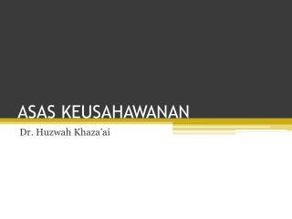 ASAS KEUSAHAWANAN