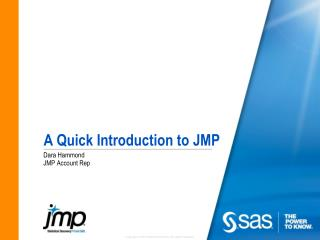 A Quick Introduction to JMP