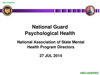 National Guard  Psychological Health