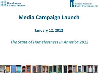 Media Campaign Launch January 12, 2012