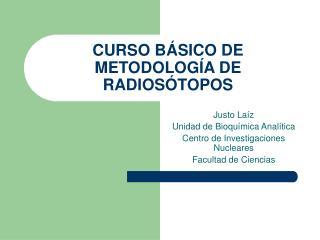 CURSO B SICO DE METODOLOG A DE RADIOS TOPOS