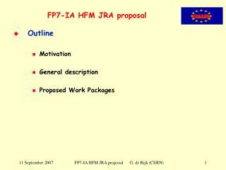FP7-IA HFM JRA proposal