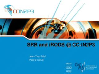 SRB and iRODS @ CC-IN2P3