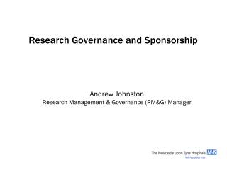 Research Governance and Sponsorship